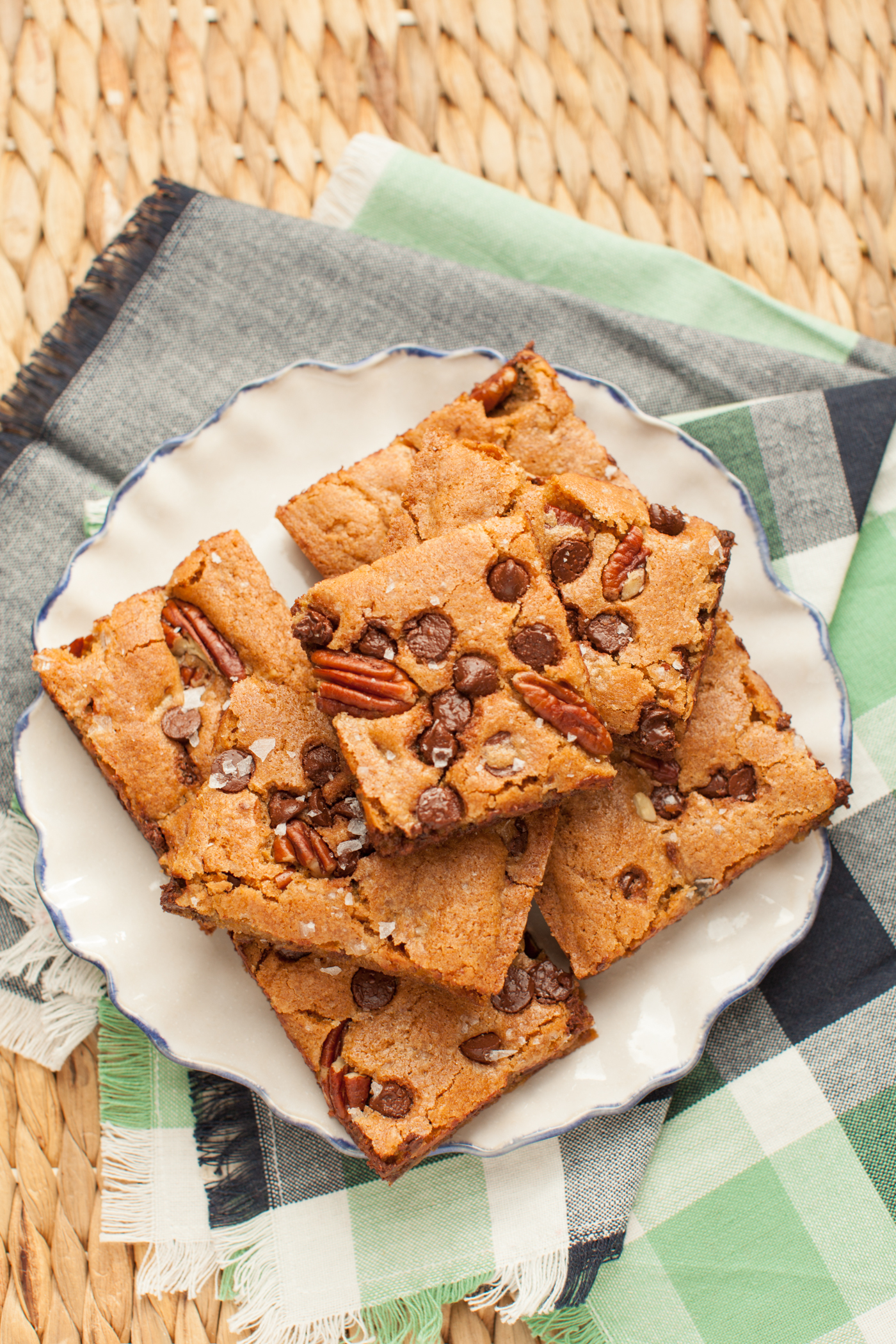 Salted Pecan Chocolate Blondies