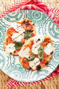 Caprese Naan Bread Pizza